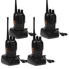 4 шт. Baofeng BF-888S Портативная рация 5 Вт ручной BF 888 S UHF 5 Вт 400-470 мГц 16CH два способ Портативный сканирования Мониторы Хэм CB Радио