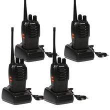 4 unids Baofeng BF-888S Walkie Talkie 5 W UHF de Mano bf 888 s 5 W 400-470 MHz 16CH Scan Monitor de Dos Vías Portable Jamón CB Radio