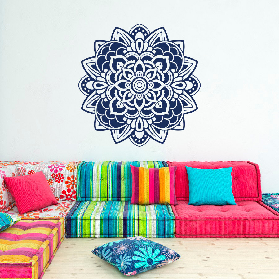 Home Garden Design Ideas India: Wall Decal Mandala Flowers Wall Art Decor India Bohemian