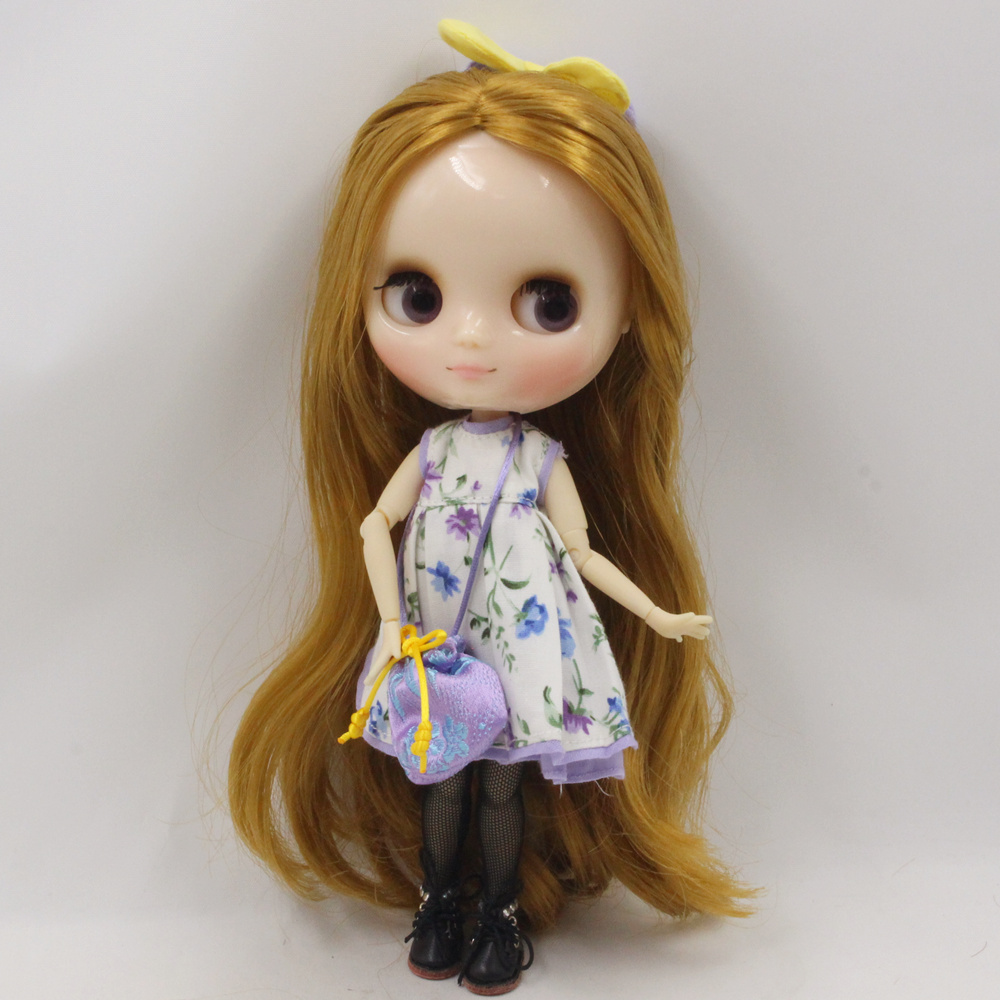 Middie Blythe Doll Flower Dress With Coat & Bag & Stocking & Hairpin 3