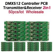 DHL Gratis verzending 50 pcs 2in1 draadloze dmx 512 Controller zender en ontvanger PCB module LED DMX Podium Verlichting Controller