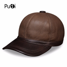 HL129 genuine leather men's baseball cap brand new style winter Russian warm one fur golf caps hats with genuine fur inside цена