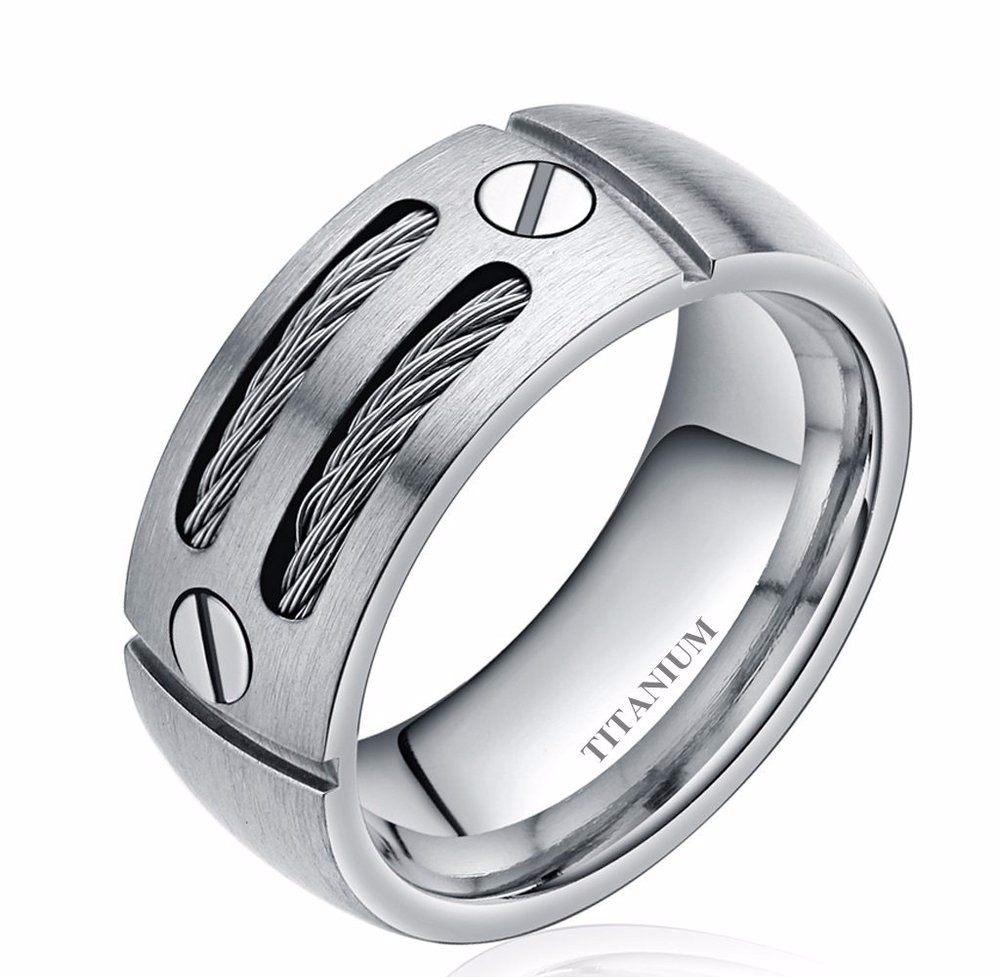 silver-or-black-cable-inlay-titanium-ring-3