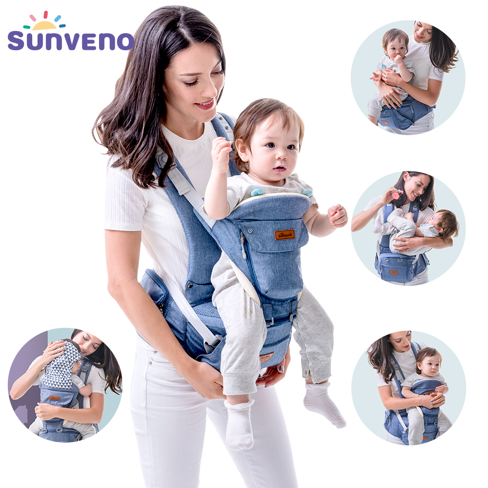 Sunveno Baby Carriers Hipseat Sling Backpack Ergonomic Coat Newborn for Kangaroo 20kg