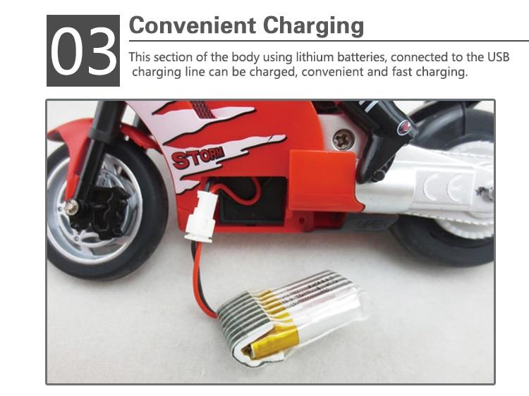 Stworzyć Zabawki 8012 RC Idzie na 2 Koła Motocykla Motocykli
