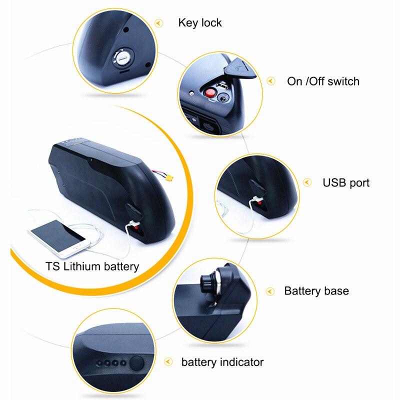 Batterie au lithium-ion de vélo électrique de 52 V Ebike 12.8AH LG 18650 avec le chargeur 2A pour le vélo électrique