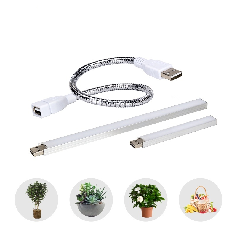 LED USB Full Spectrum Fito Lamp DC5V 5W 3W Portable Table hydroponic Plant Light Indoor Tent Greenhouse Flower Grow Seeding Lamp