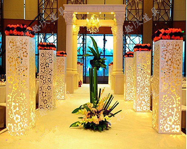 Wholesale wedding supplies hollow out pillar without light wedding wholesale wedding supplies hollow out pillar without light wedding decoration road lead carved hollow out junglespirit Images