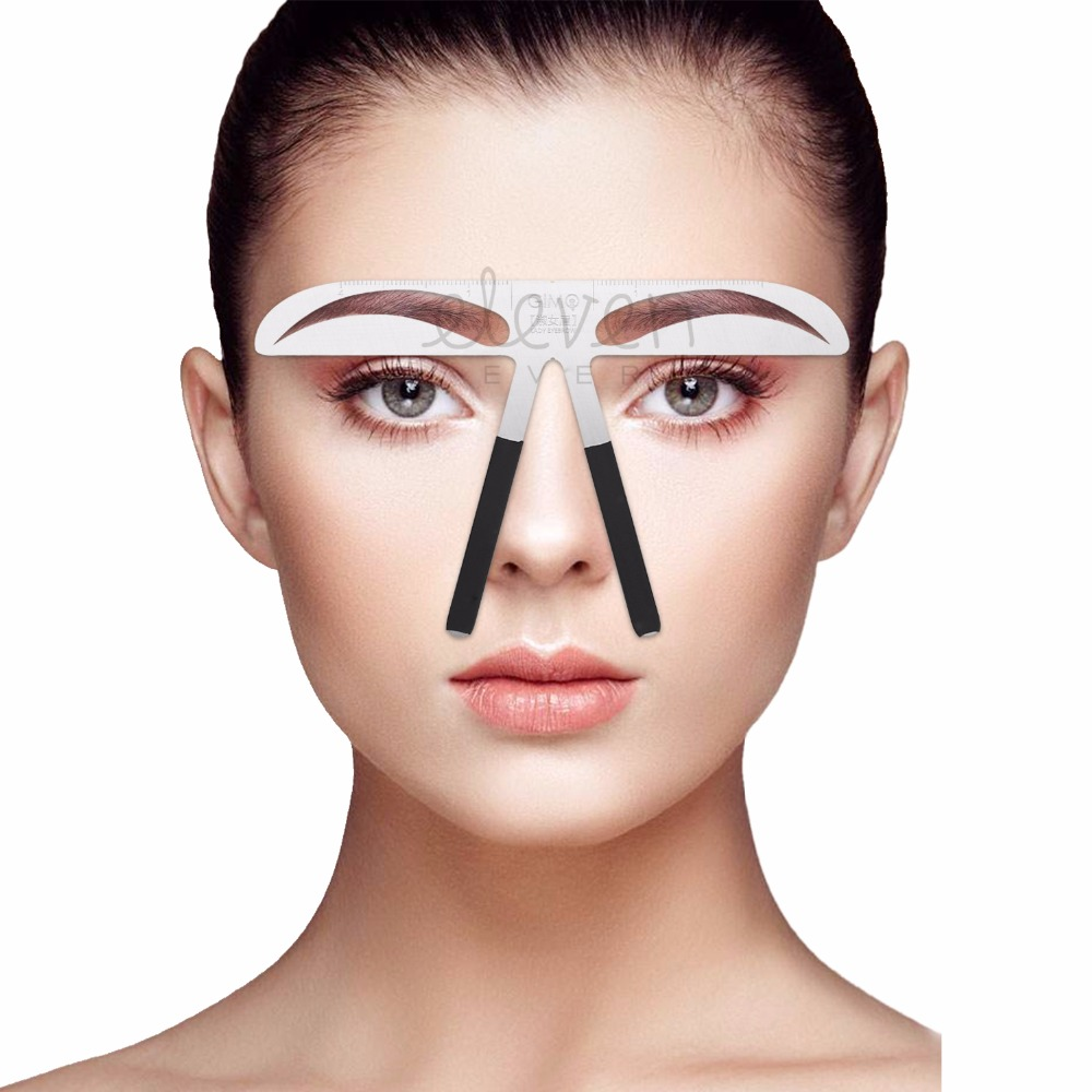 Permanent Makeup Eyebrow Tatoo Shaper Easy To Use Eyebrow Stencil Makeup KIt DIY Template Stencil Shaping Tool-lady eyebrow
