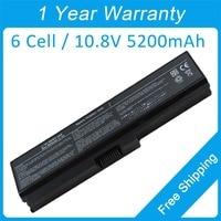 5200mah laptop battery for toshiba Satellite Pro 3000 C650 C660 L510 L600 L630 L700D PA3636U 1BRL PA3638U 1BAP