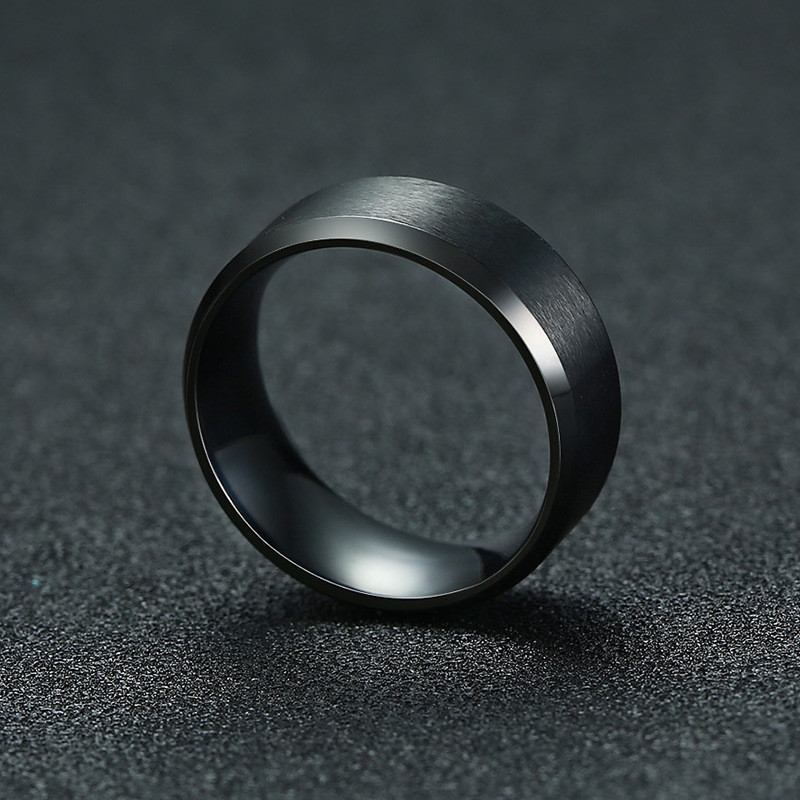 ZORCVENS 2020 New Fashion 8mm Classic Ring Male 316L Stainless Steel Jewelry Wedding Ring For Man 3