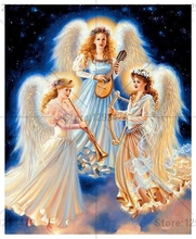 Diamond embroidery Angel playing music 5d diy diamond painting cross stitch needlework mosaic full drill resin rhinestone crafts