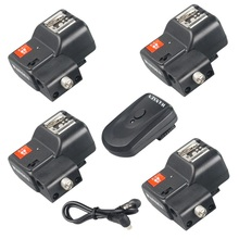 цена на Wansen PT-04NE 4 Channels Radio Wireless Speedlite Flash Trigger with Umbrella Holder  for Canon Nikon Pentax Olympus