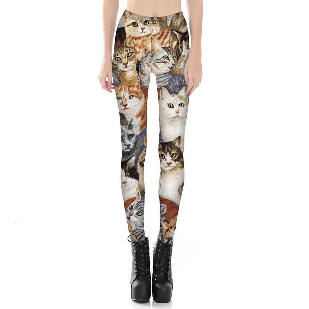 Lovely Cat 3D Print   Leggings   Women Leggins High Waist Fitness   Leggings   Elastic Causal   Leggings   Slim Sexy   Leggings   Plus Size