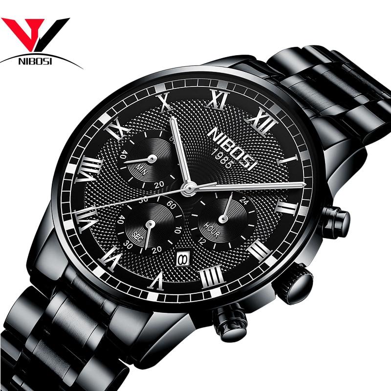 Image 5 - NIBOSI Mens Sport Watches Men Waterproof Luxury Brand Watch 2018 Fashion Full Steel Analog Quartz Wristwatch Relogio Masculino-in Quartz Watches from Watches