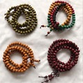 Moda de madeira de Sândalo Natural 8mm 108 contas de oração Budista pulseira colar japa malas Tibetano meditação Pulseiras