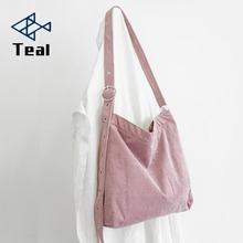 Women's shoulder bags curduroy handbag high quality canvas shoulder bag women lady bags handbags famous brands big bag ladies gykaeo women shell handbag ladies casual shopping shoulder bags handbags women famous brands high quality tote bag ladies bolsas