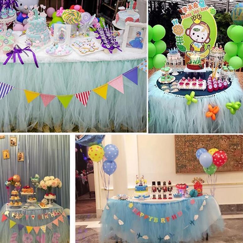 HTB1lthBCQyWBuNjy0Fpq6yssXXaC 25 yards 15cm Tulle Roll Fabric Spool Tutu Wedding Decoration Baby Shower Organza Laser DIY Crafts Birthday Party Supplies