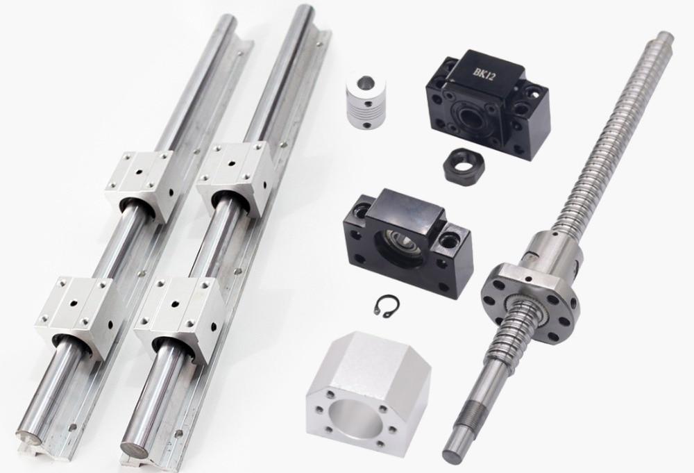 1pcs SFU1605/RM1605 ball screw -L 800mm +2pcs linear guide rail SBR16 -L 800mm +4pcs SBR16UU +1set BF/BF12 +6.35x10mm coupling  1pcs SFU1605/RM1605 ball screw -L 800mm +2pcs linear guide rail SBR16 -L 800mm +4pcs SBR16UU +1set BF/BF12 +6.35x10mm coupling