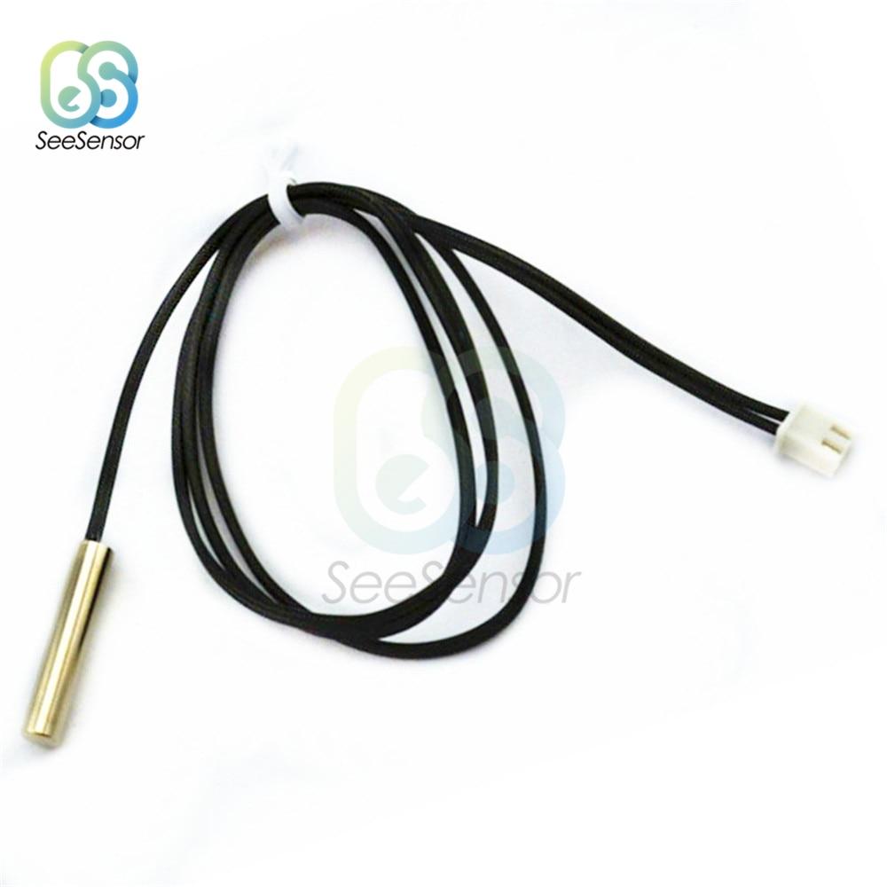 10 2Pcs 0.3M sensor de Temperatura Termistor NTC 1% K 3950 À Prova D' Água Sonda Comprimento Do Cabo 30CM
