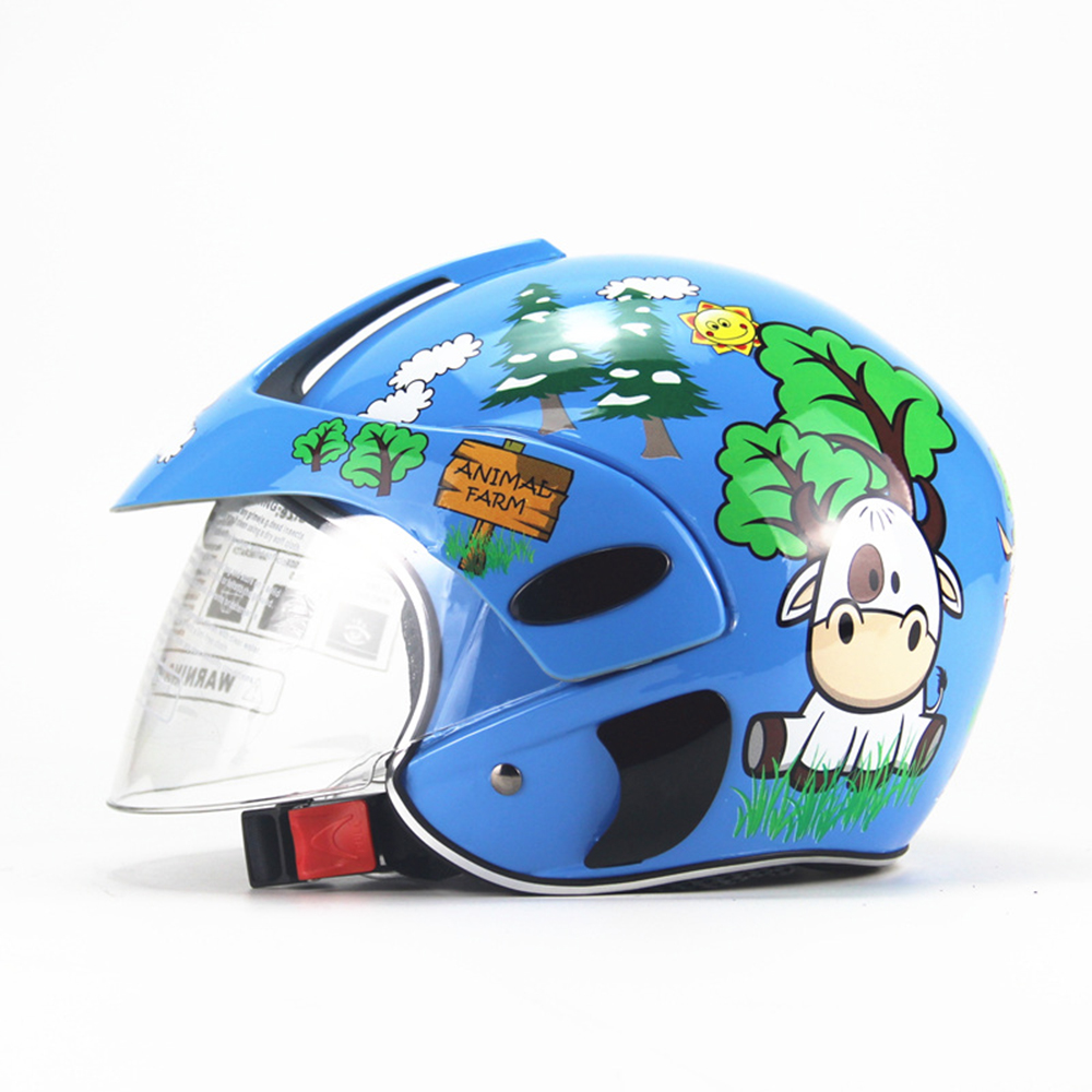 Half Face Motorcycle <font><b>Helmet</b></font> Cartoon Children <font><b>Helmet</b></font> <font><b>for</b></font> Motorcycle Safety Cap Capacete <font><b>Moto</b></font> <font><b>Kids</b></font> Crash <font><b>Helmet</b></font> <font><b>for</b></font> Girls And Boys image