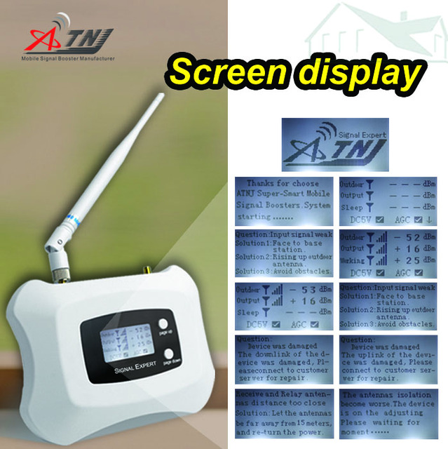 LCD display!  WCDMA  3G 2100MHz cellphone signal repeater 3g  cellular signal repeater amplifier Only Booster