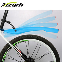 MZYRH 1 Pair 26 Inch Bike Fender Set with LED Taillight Flexible  Bicycle Mudguard Fenders Cycling Mud Guards Bicycle Wings bicycle 2 white led headlight 2 red led taillight set black 2 x cr2032 pair