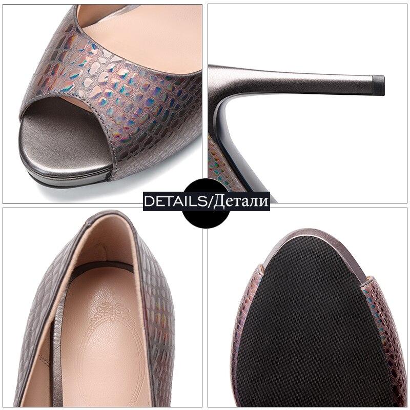 Alto 2019 Peep Relieve Cuero Zapatos De Primavera gun Negro Vaca Tacón Mujer Wetkiss Toe plata Bombas Mujeres Fiesta En Baja Color Calzado Plataforma SZUXnv