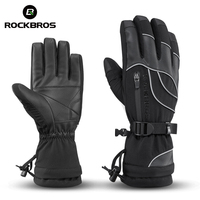 ROCKBROS Waterproof Ski Gloves 30 Degree Windproof Winter Snowmobile Snowboard Gloves Snow Men Women Thermal Skiing