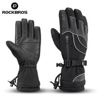 ROCKBROS Waterproof Ski Gloves 30 Degree Windproof Winter Snowmobile Snowboard Gloves Snow Men Women Thermal Skiing