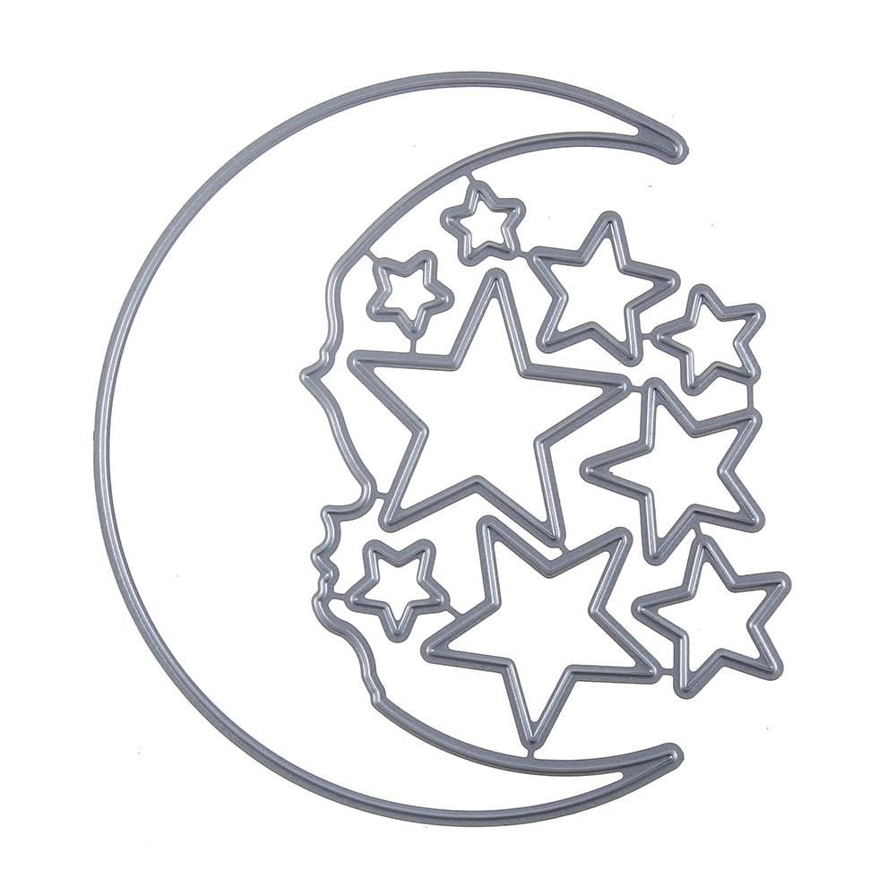 103*110 MM Sharp Mond Sterne Set stahl Vorlage Stanzformen ...