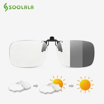 SOOLALA, gafas de lectura con Clip con tapa Multifocal progresivo sol, gafas fotocromáticas para hombre y mujer, gafas de lectura de presbicia Bifocal azul