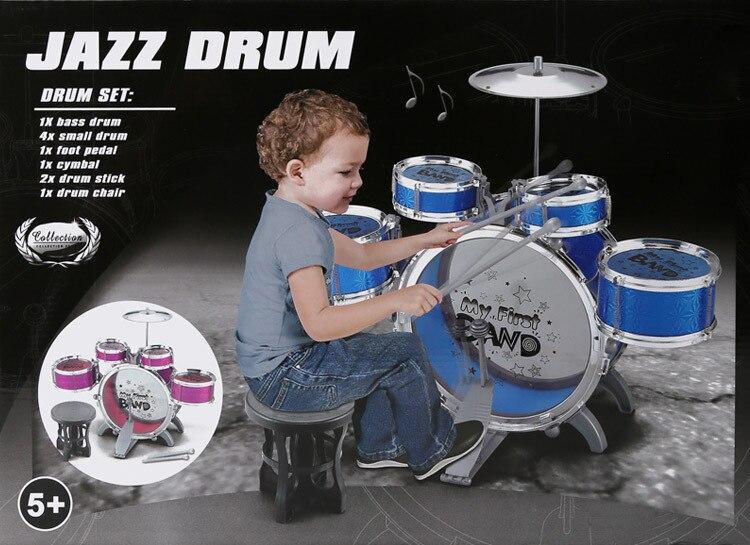 Nouveau gros tambour de Jazz de grande taille avec chaise musique jouet éducatif Instrument pour enfants enfants