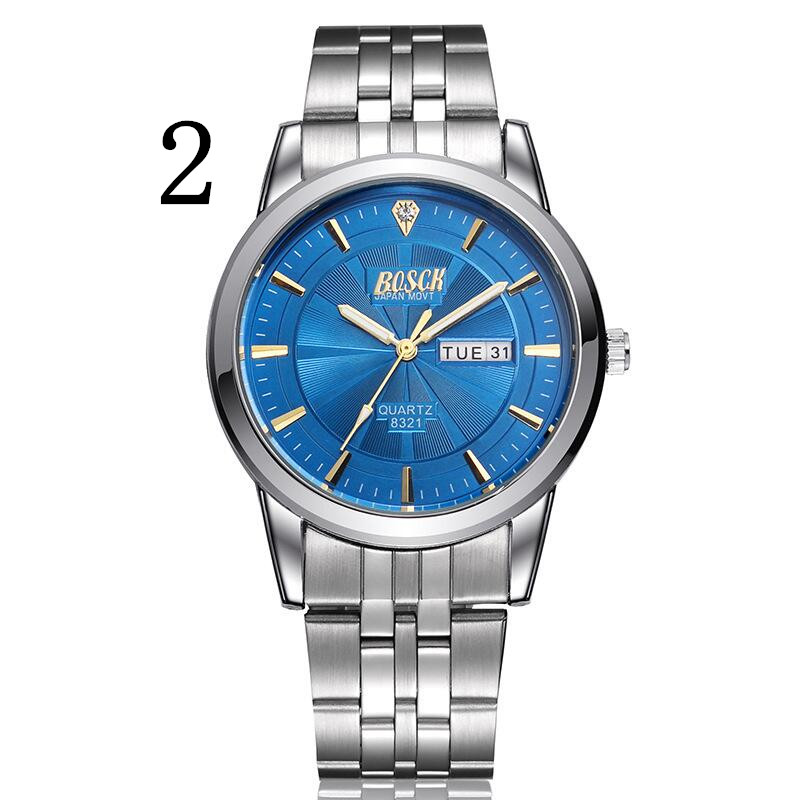 In 2018, new men quartz watch, high-quality outdoor Luxury men's leisure business quartz watch. new fashionable men business silver belt gear quartz watch