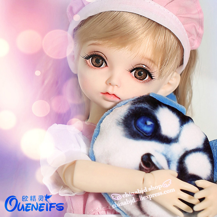 OUENEIFS free shipping Hebbe 1/6 bjd sd doll model reborn baby girls boys doll eyes High Quality toys shop makeup resin voice control backlight hygrometer thermometer alarm clock with lcd display