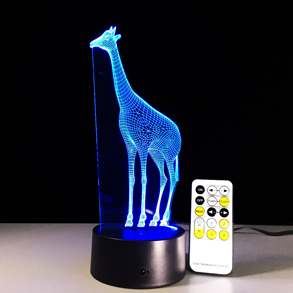 Remote And Touch Switch Giraffe 3D LED Lamp Visual Led Night Lights For Kids USB Table Lampara Besides Lamp Baby Sleeping Night