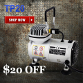 Mini Air Compressor TC-20 Portable Airbrush Compressor Body Paint Temporary Tattoo Nail Art 220V