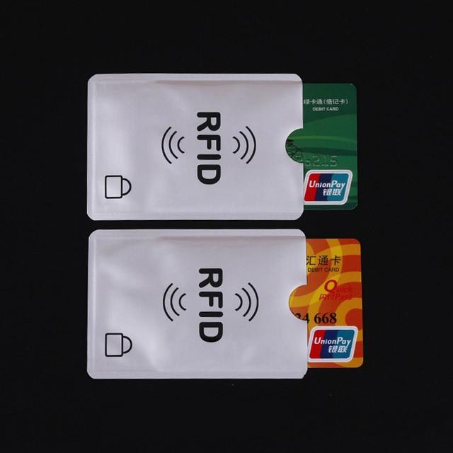 5 יחידות Rfid כרטיס מחזיק Buinsess אשראי כרטיס מחזיק ארנק כיס הגנת אלומיניום מתכת מחזיק כרטיס מקרה כרטיס בנק