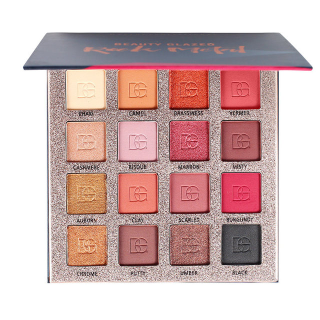 Beauty Glazed Charming Eyeshadow 16 Colors Natural Matte Pearlescent Eye Shadow Palette Makeup Beauty Cosmetic Powder TSLM1 2
