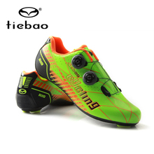 Tiebao Professional Cycling Shoes Men Carbon Fiber Racing Bike Road Shoes Self-Locking Athletic Bicycle Shoes Sapatilha Ciclismo
