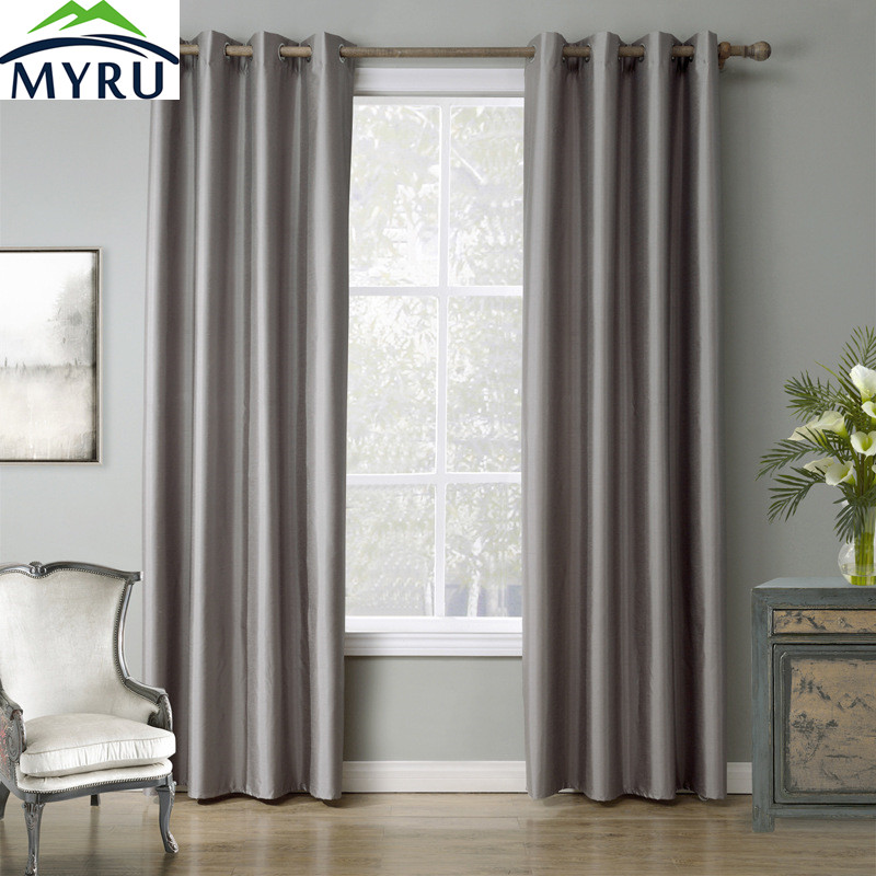 Childrens Bedroom Blinds Grey Bedroom Lighting Build In Bedroom Cupboards Victorian Bedroom Ideas: MYRU Light Grey Window Curtains Tube Curtain For Bedroom