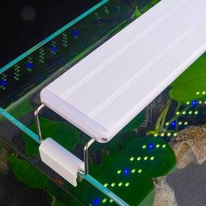 Светодиодный светильник для аквариума, тонкий выдвижной светильник с зажимом для аквариума, 5 Вт/8 Вт/11 Вт/16 Вт, 110В-220В, светодиодный светильн...
