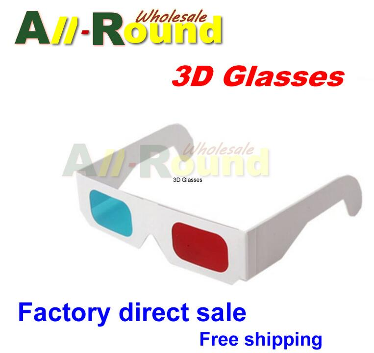100 pairs Universal Paper <font><b>Anaglyph</b></font> 3D <font><b>Glasses</b></font> Paper 3D <font><b>Glasses</b></font> View <font><b>Anaglyph</b></font> <font><b>Red</b></font> <font><b>Cyan</b></font> <font><b>Red</b></font>/<font><b>Blue</b></font> 3D <font><b>Glass</b></font> <font><b>For</b></font> Movie EF
