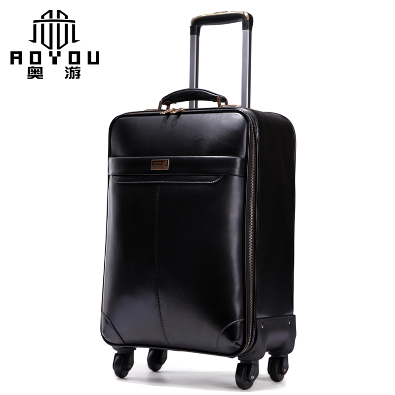 Popular Rolling Luggage Genuine Leather-Buy Cheap Rolling Luggage ...