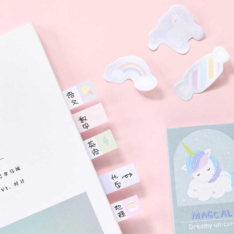 1 упак./лот мультфильм Единорог мечта блокнот бумажный блокнот Стикеры для записей офисные канцтовары-подарки