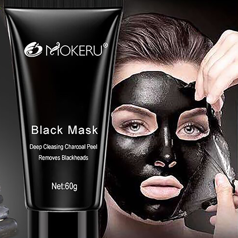 Mokeru Black Head Face Mask Blackhead Remover Shills Deep Cleansing Black Mask Purifying Peel Off Facial Mask Whitening Acne
