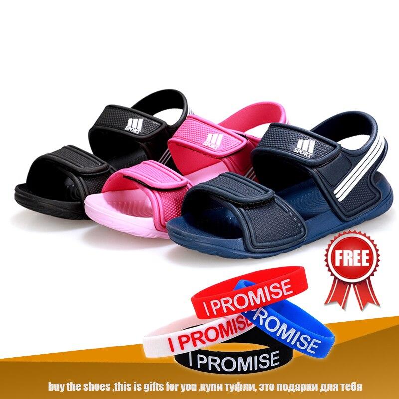 2019 kinder sandalen sommer mode jungen strand weichen sandalen mädchen candy farbe nette bequeme schuhe größe 25 zu größe 36