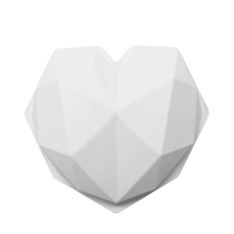Image 3 - SHENHONG 3D Diamond Love Heart Dessert Cake Mould Pop Silicone Art Mold 3D Mousse Baking Pastry Silikonowe Moule Decoration-in Cake Molds from Home & Garden