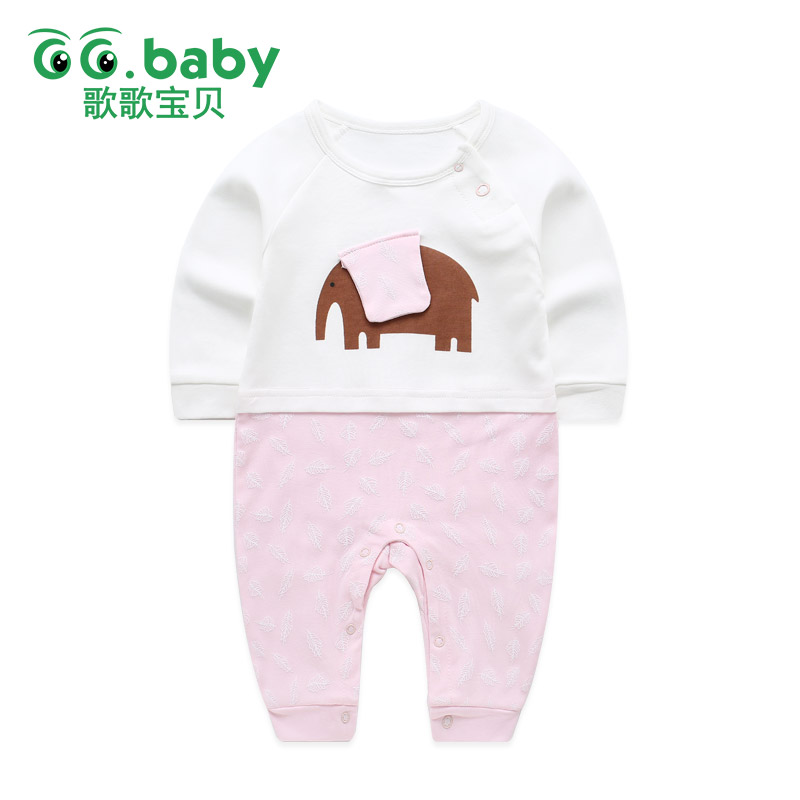 8d579098f5c Elephant Newborn Baby Pajamas Girl Rompers Infant Clothing Jumpsuit Long  Sleeve Baby Boys Costume Clothes New Born Overalls Baby-in Rompers from  Mother ...