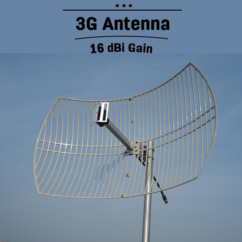 3G UMTS 2100 Portable en plein air Grille Antenne 16dBi À Gain Élevé WCDMA 2100 mhz Antenne Externe Pour Le Propulseur de Signal de Téléphone Portable Repeater23
